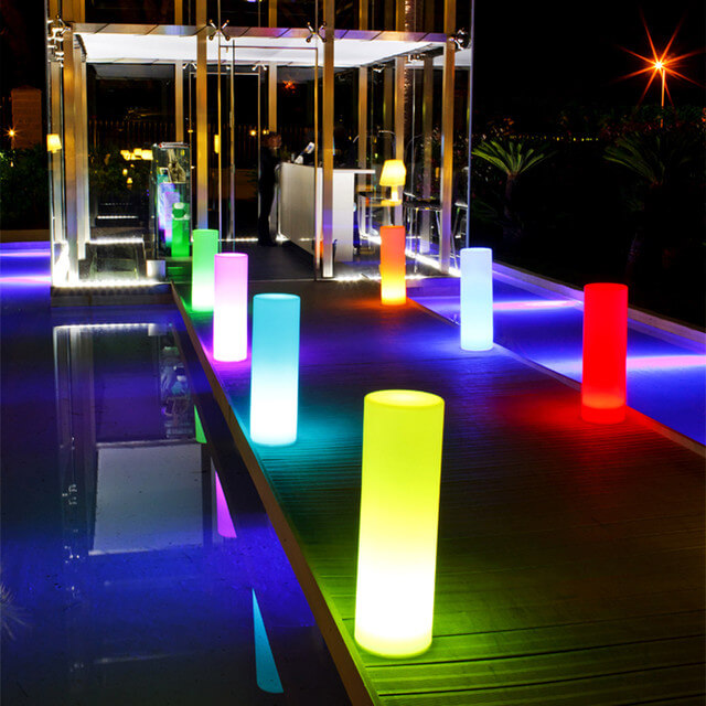 LED lamps in Backyard