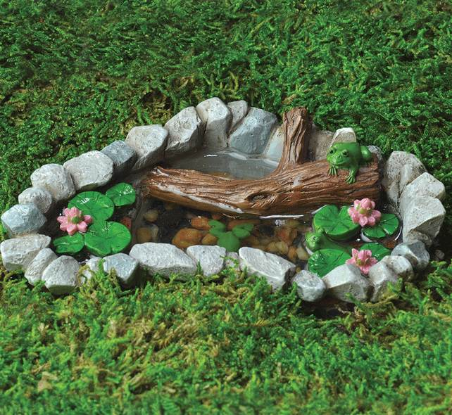 how to make a small frog pond