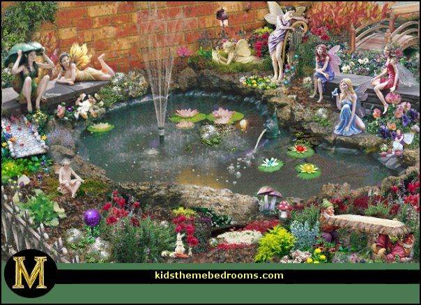 Fairy garden pond decor gardening flowers 101 gardening for Garden pond 101