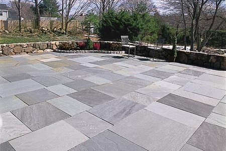 modern flagstone patio