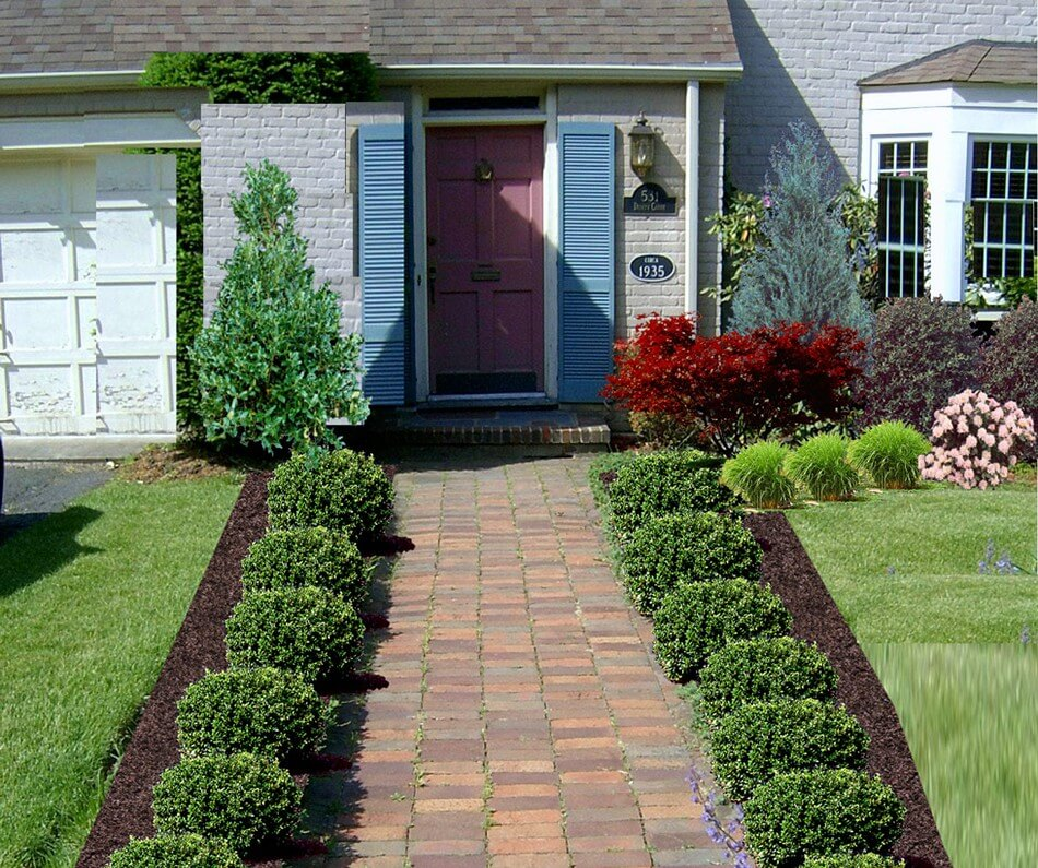 Flower bed ideas for front of house gardening flowers for Front house ideas