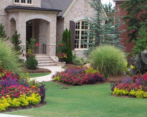 Flower bed ideas for front of house Gardening flowers