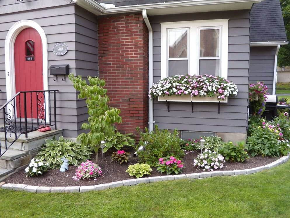 Flower Bed Ideas Front Of House Part 88