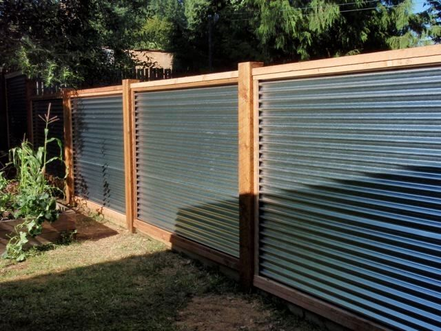Garden Fencing Ideas 27 cheap diy fence ideas for garden privacy or perimeter Galvanised Metal Fence
