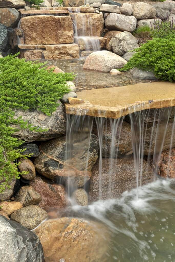 Garden pond waterfall ideas gardening flowers 101 Garden waterfall designs