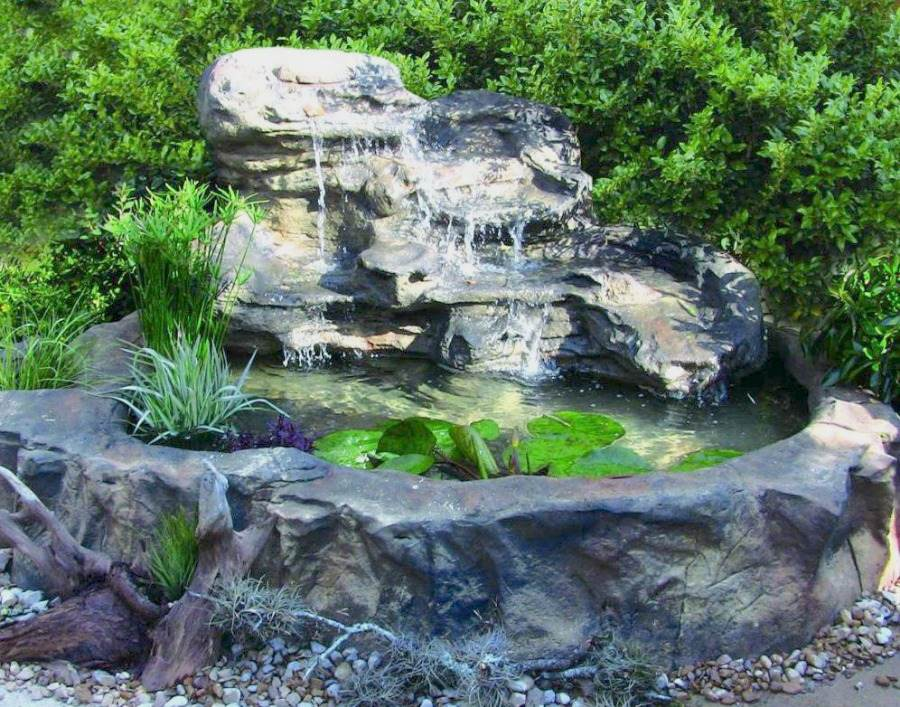 Garden ponds and waterfalls kits gardening flowers 101 for Outdoor pond kits