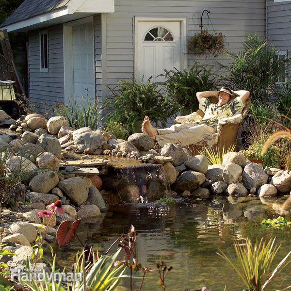 Garden ponds and waterfalls pictures gardening flowers for Garden pond 101