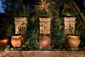 outdoor water fountains and waterfalls