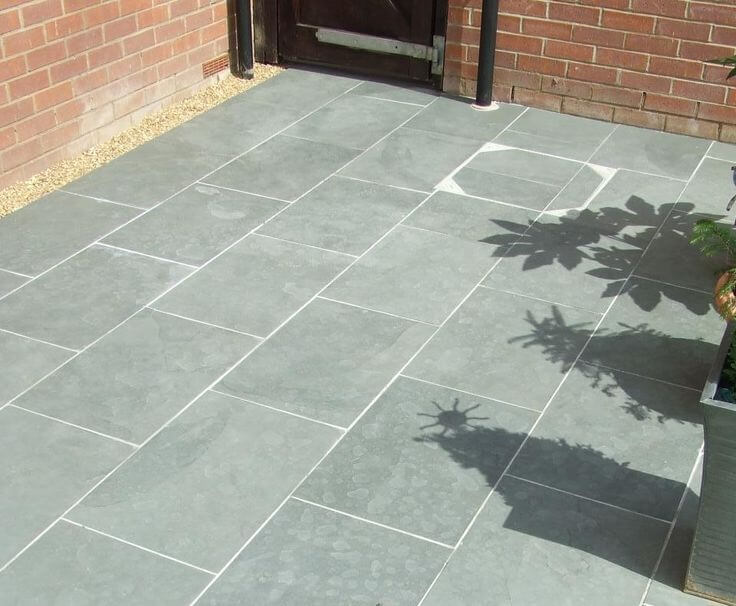 patio slabs grey