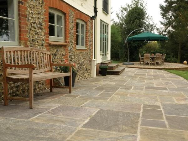 patio slabs country house