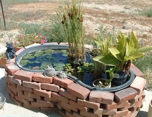Plastic garden pond designs gardening flowers 101 for Round koi pond