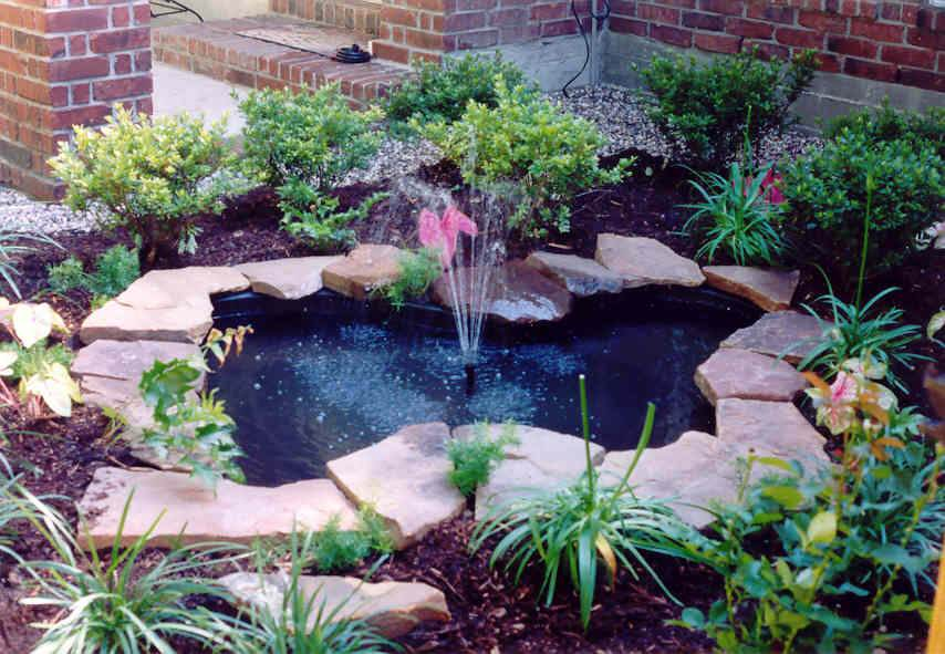 Small Garden Pond Fountain Gardening Flowers 101
