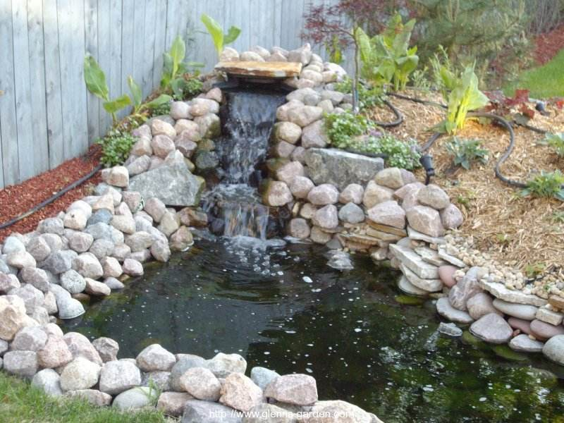 gallery for small pond ideas with waterfall - Garden Pond Ideas