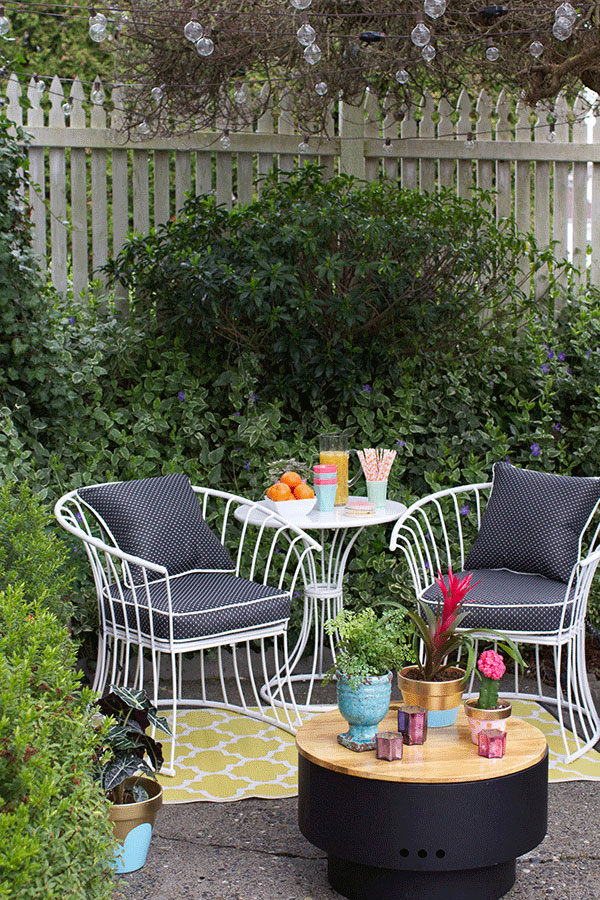 Small patio ideas for small spaces gardening flowers 101 gardening flowers 101 - Small space garden design ideas set ...
