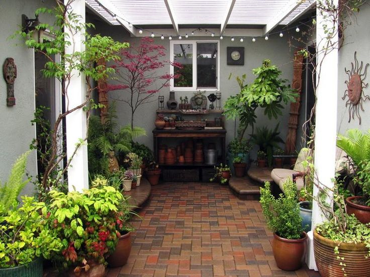 Small patio ideas for every home gardening flowers 101 for Indoor garden design pictures
