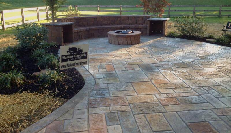 stamped concrete patio - Stamped Concrete Design Ideas