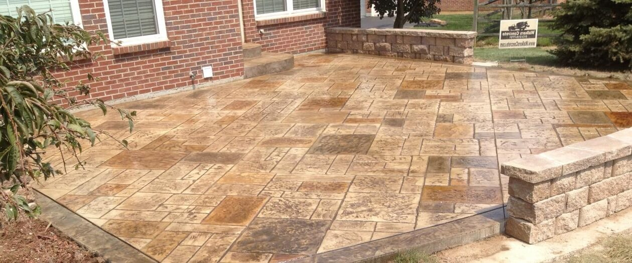 Stamped Concrete Patio : Stamped concrete patio
