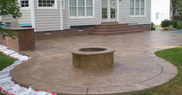 Stamped Concrete Patio Ideas Gardening Flowers Gardening - Backyard concrete patio ideas